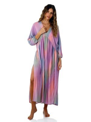 Malai: Shine Dye Lightup Loner Maxi Dress (C38077)