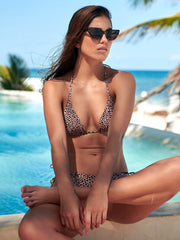 Malai: Melon Cheeta Basal Triangle-Melon Cheeta Dolly  Bikini  T01031-B02031