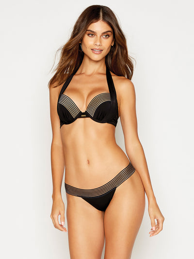 Beach Bunny: Sheer Addiction Push Up-Sheer Addiction Midi  Bikini  B12125T7-BKGD-B12125B6-BKGD