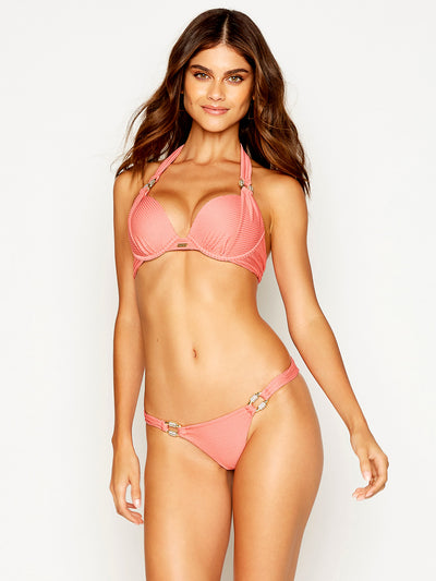 Beach Bunny: Madagascar Glam Push Up-Madagascar Glam Skimpy  Bikini  B12111T7-ROSE-B12111B2-ROSE