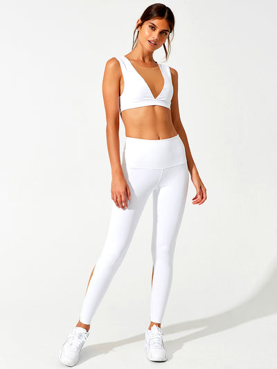 Beach Bunny: Chloe Crop Top-Addison Legging  Cover Up  F20103T2-WHTE-F20103L1-WHTE