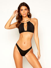 Beach Bunny: Madison High Apex-Aria Skimpy (B12142T5-BLCK-B12105B0-BLCK)