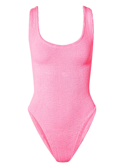 Hunza G: Square Neck Swim One-Piece (SQUARENECKSWIM-BUBB)