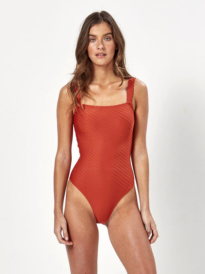 Charlie Holiday: Miami One-Piece (MEW1417-RUST)