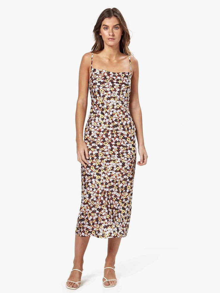 Charlie Holiday: Chillie Midi Slip Dress (MEW6000-ISFL)