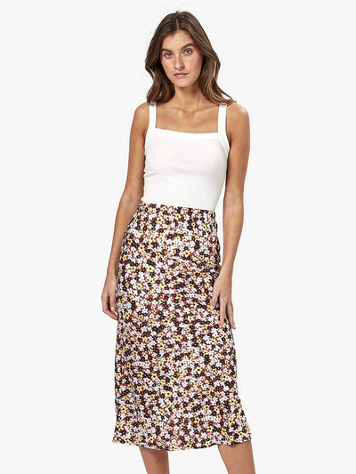 Charlie Holiday: Bella Midi Slip Skirt (MEW8002-ISFL)