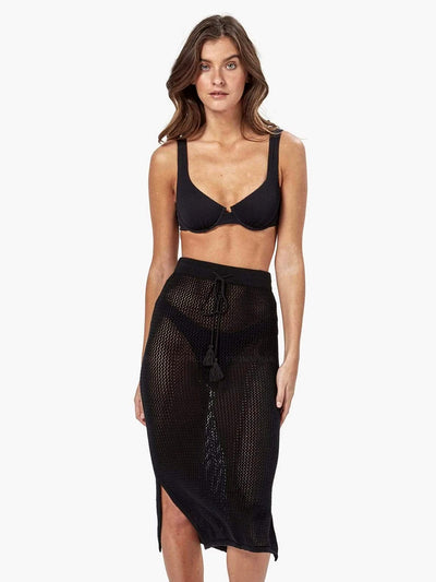 Charlie Holiday: Amalfi Crochet Skirt (MEW3003-BLCK)