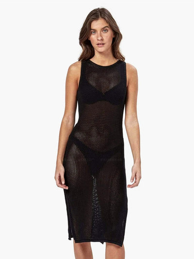 Charlie Holiday: Amalfi Crochet Dress (MEW3002-BLCK)