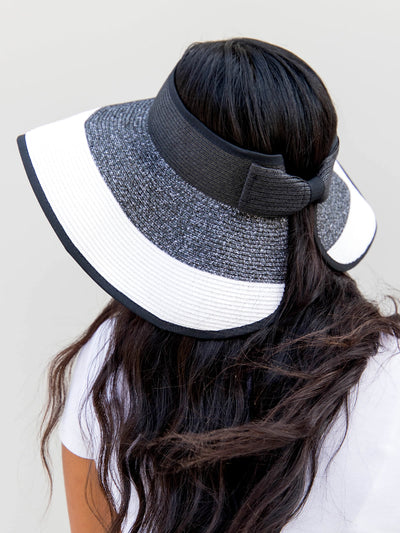 Roll Up Visor with Bow Closure