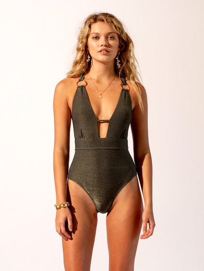 Suboo: Gigi Deep V One-Piece (SBSW683R19-GREY)