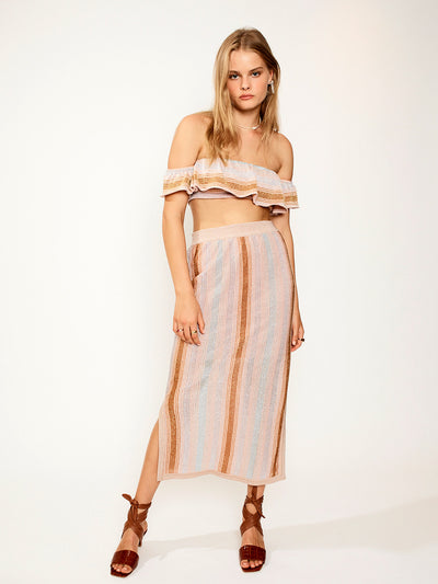 Suboo: Luella Off Shoulder-Luella Midi Knit Skirt (SB1853PF20-SB1854PF20)
