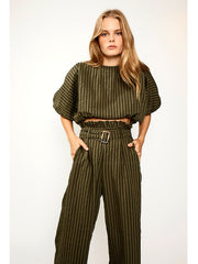 Suboo: Queenie Balloon Top-Queenie Paper-Bag Pants (SB1861PF20-SB1862PF20)
