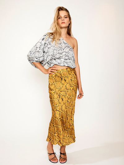 Suboo: Rosetti One-Shoulder Top-Rae Slip Skirt (SB1830PF20-SB1868PF20)
