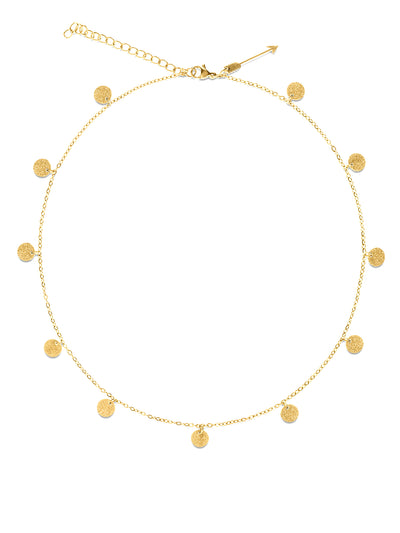 Ellie Vail: Sabina Mini Sparkle Disc Necklace (EVS20-SABINA-NECK)