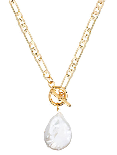 Shashi: Maverick Pearl Necklace (MAVERICKPEARLNECKLACE-GOLD)