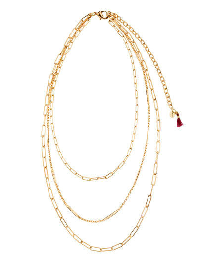 Shashi: Linked Layered Necklace (LINKEDLAYEREDNECKLACE-GOLD)