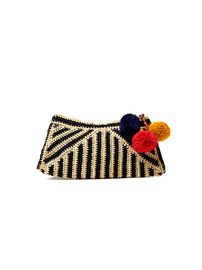 Mar Y Sol: Sonia Clutch Bag (7323-BLK)