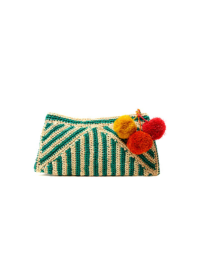 Mar Y Sol: Sonia Clutch Bag (7323-AQ)