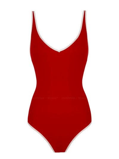 Anais and Margaux: Nicole One-Piece (A21NCLR-RD)