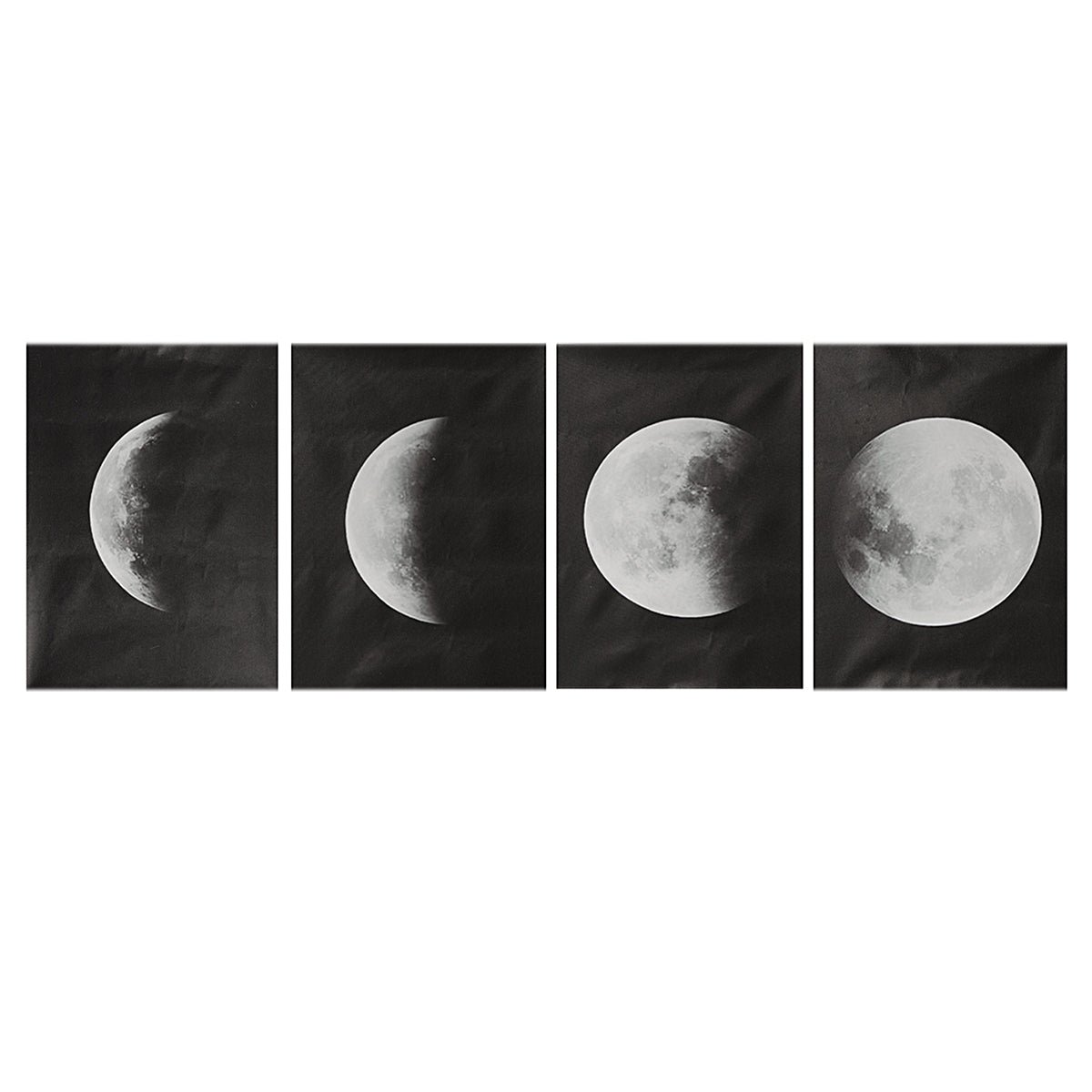 4Pcs/Set Moon Wall Decor Poster Art Print Canva Wall Picture Home Decorations