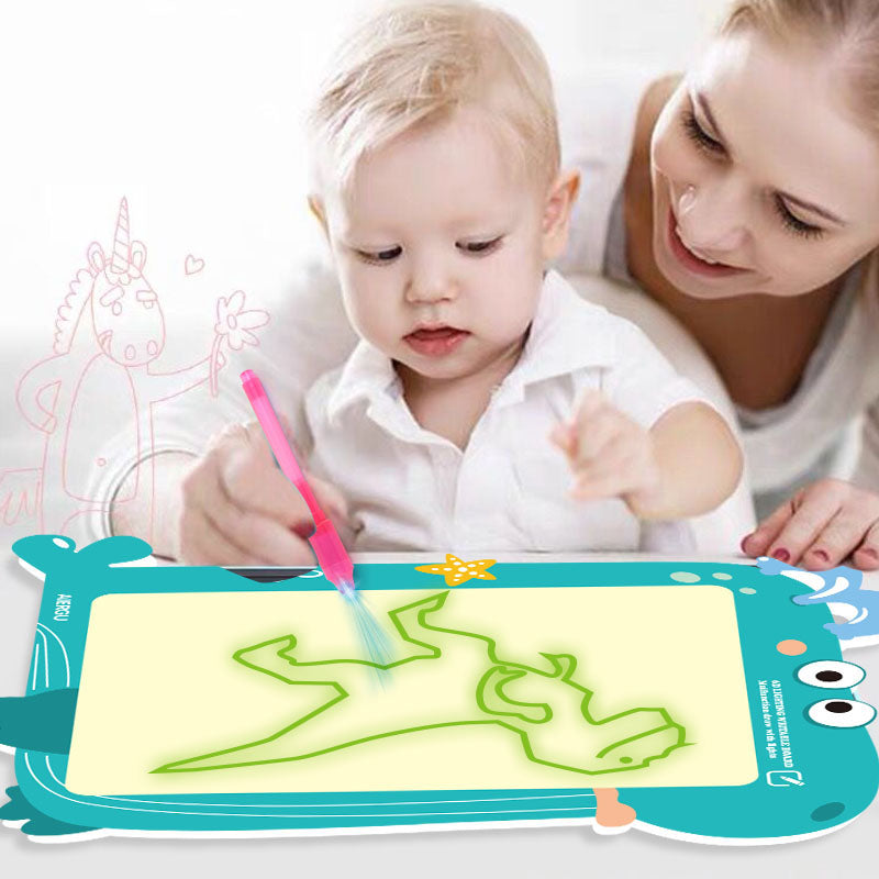 Multi-functional 2 in 1 Fluorescent Drawing Board Eco-friendly Writing Tablet Electronic Graffiti Handwriting Board Gifts Toys For Kids Childrens