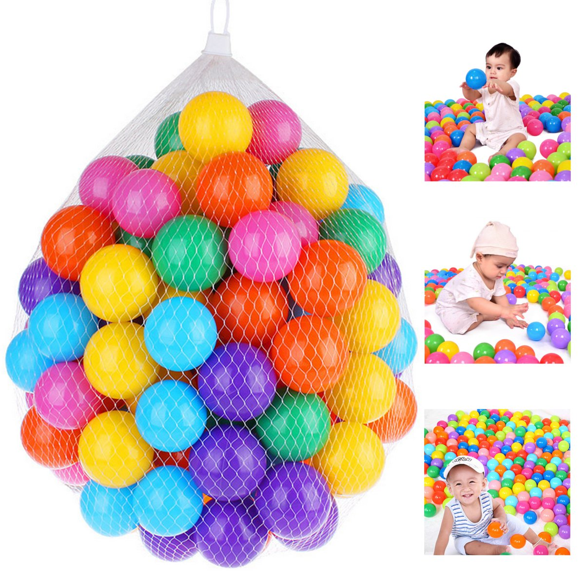 100pcs Soft Plastic Ocean Ball 7cm Quality Secure Baby Kid Pit Toy Swim Colorful Ball Toys