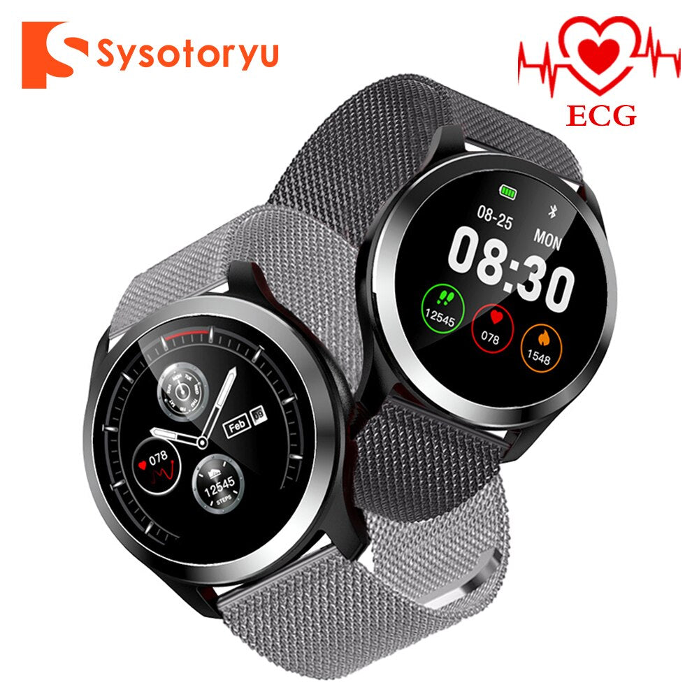 SYSOTORYU Z03 Smart Watch ECG PPG IP68 Waterproof Smart Watch Men Heart rate Sport Smartwatch Fitness Trakcer for IOS Android