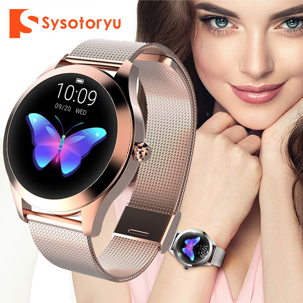 SYSOTORYU KW10 Women Smart Watch Fashion Ladies Bluetooth Smartwatch Heart Rate Monitor Fitness Bracelet for ios android Phone