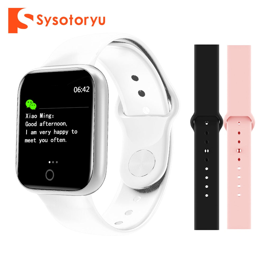 SYSOTORYU Smart Watch Heart Rate Blood Pressure Fitness Bracelet Men Women Smartwatch Message remind for Apple IOS Android Phone
