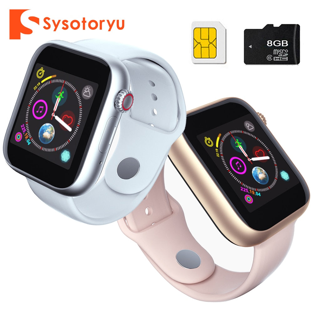 SYSOTORYU Smart Watch Support SIM Card TF Card Smartwatch Camera Bluetooth Clock Call Message For Apple Android Watch Men Women