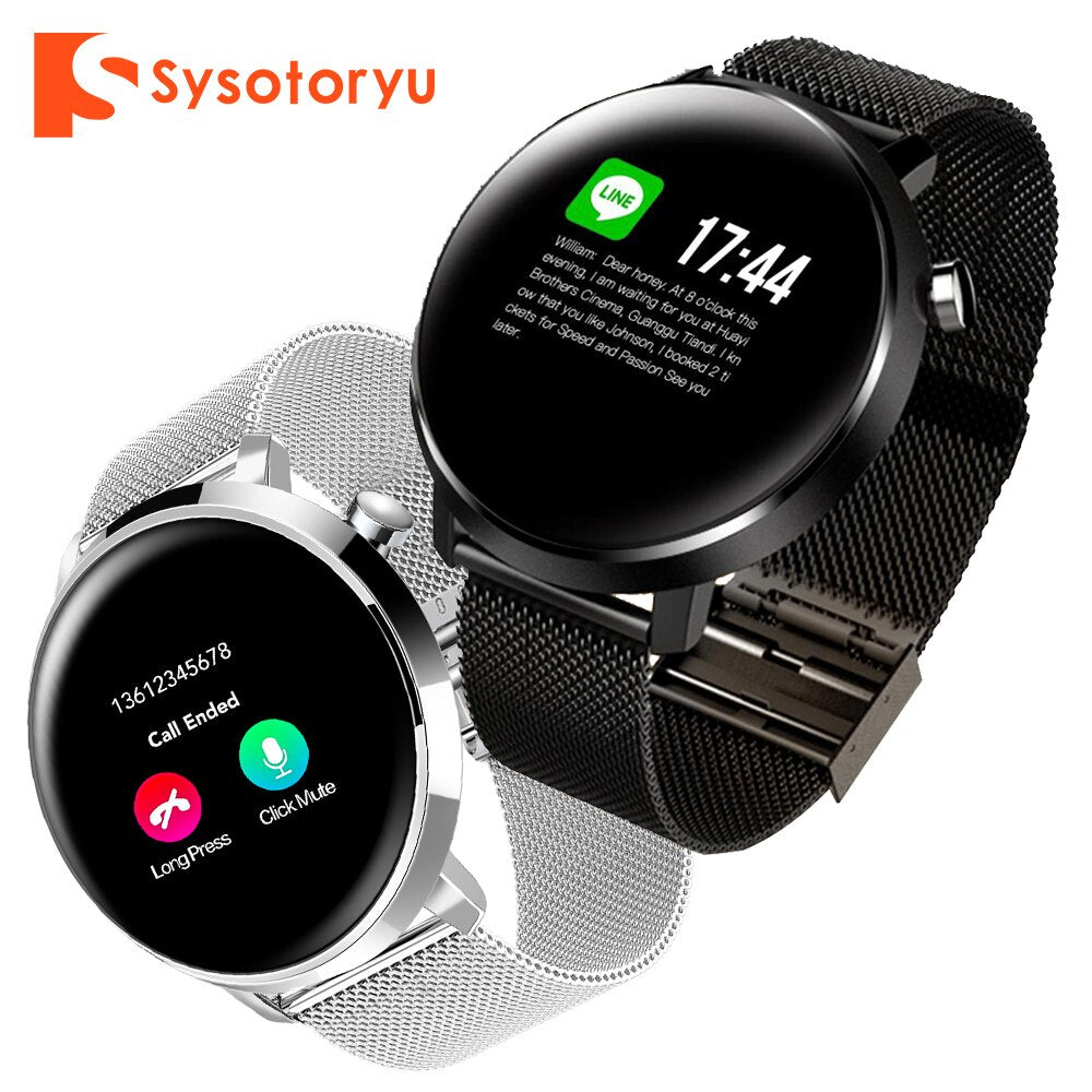 SYSOTORYU Smart Watch IP68 Waterproof Heart Rate Blood Pressure Fitness Men Smartwatch Bluetooth For Xiaomi Android IOS Phone