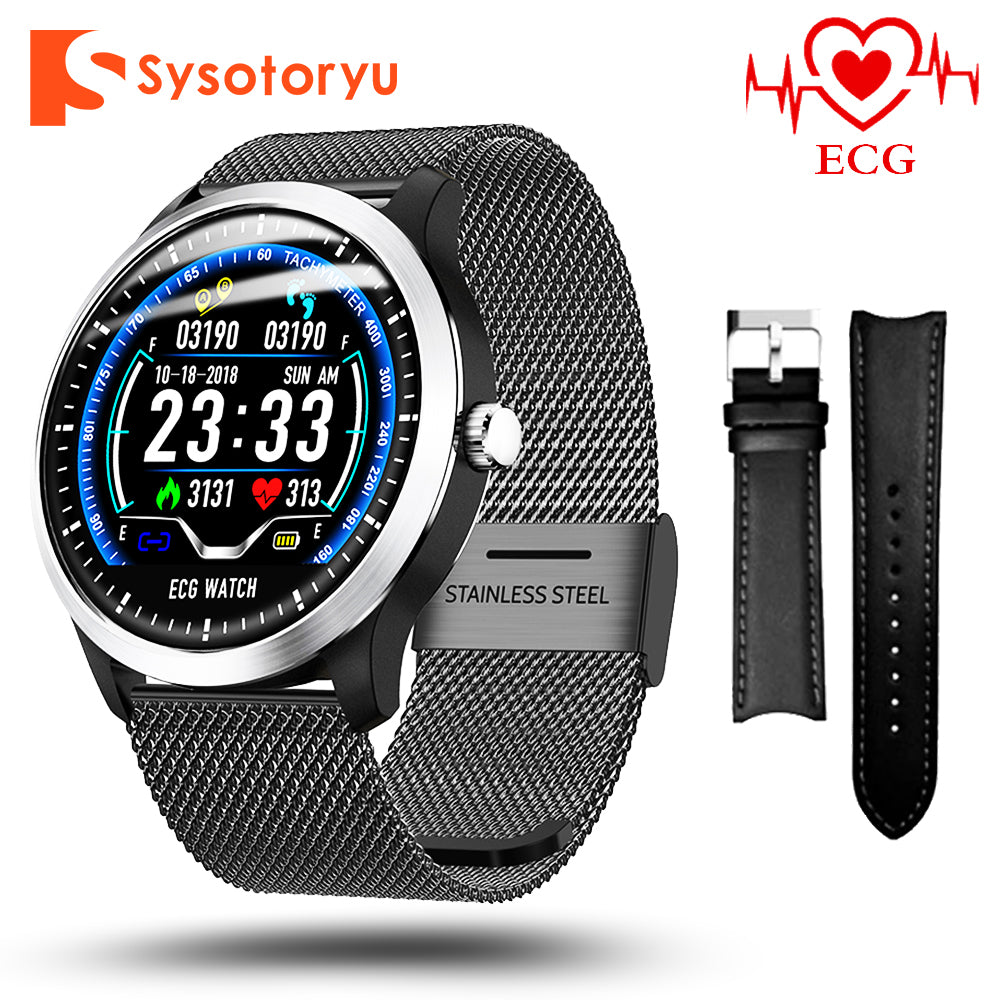 SYSOTORYU N58 Smart Watch ECG PPG Heart rate Blood Pressure Monitor Smartwatch Sports Pedometer Fitness Bracelet Men Women Watch