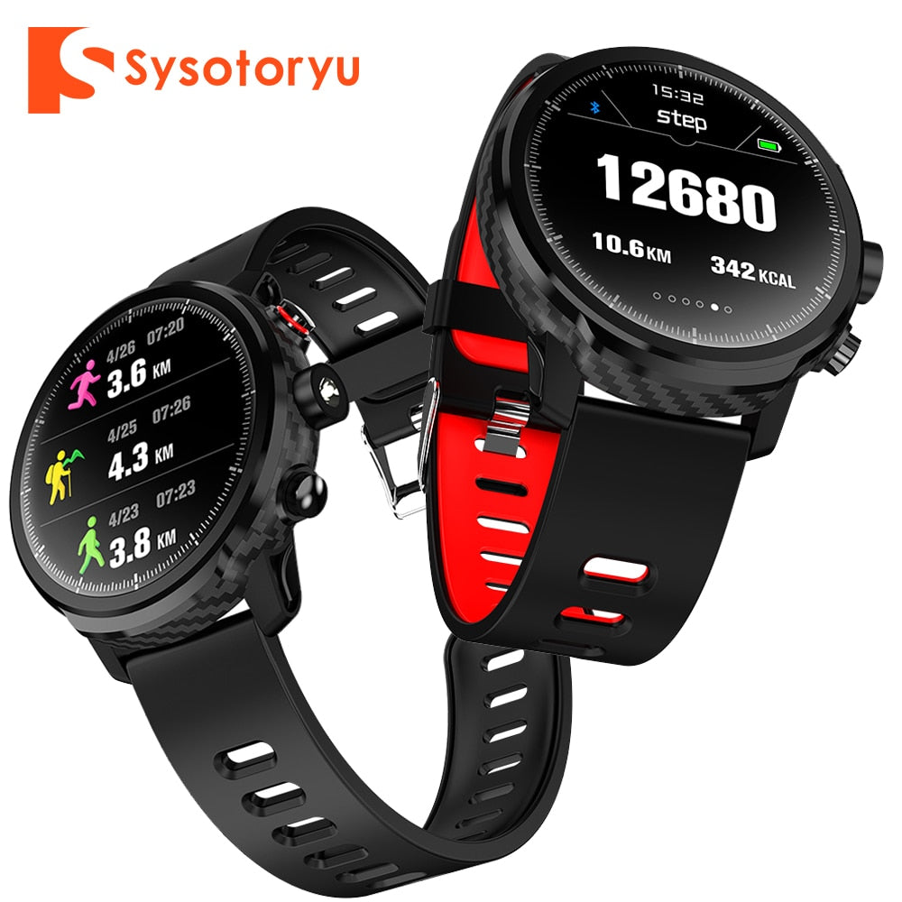 SYSOTORYU L5 Smart Watch IP68 Waterproof Men Wathes Multi Sports Heart Rate Monitor Weather Forecast Smart Clock for IOS Android