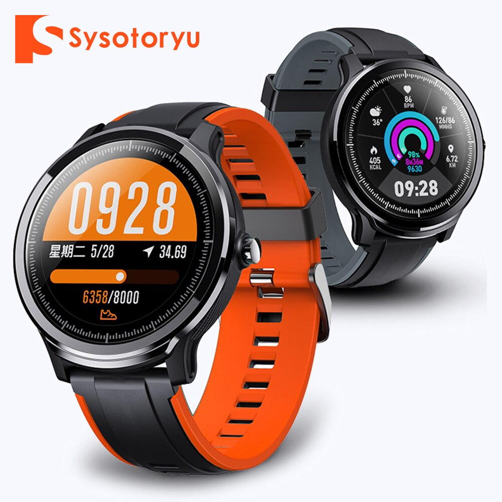 SYSOTORYU Smart Watch Heart Rate Monitor Blood Pressure IP68 Waterproof Smart Watch Sports for Huawei Xiaomi Android IOS Phone