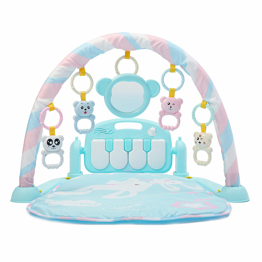 3-in-1 Cute Rainforest Musical Lullaby Bassinet Baby Activity Playmat Gym Toy Play Mat
