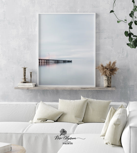 Sunset pier print art wall decor poster digital download - 0159 - ShimmerAge