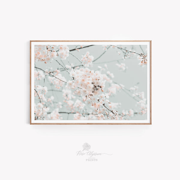 Peach flower blossom prints art, digital download 0182V - ShimmerAge