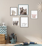 Twin cow baby print art, twin baby cattle art print - P0042