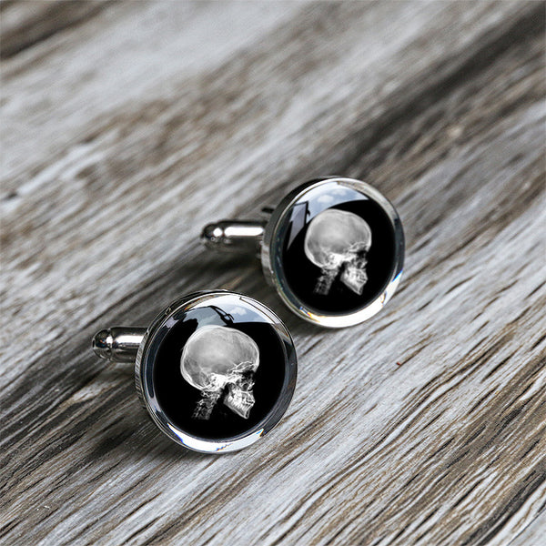X-ray skull cufflinks gifts for husband C0016N