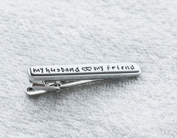 My husband, my friend tie clip - T8000N