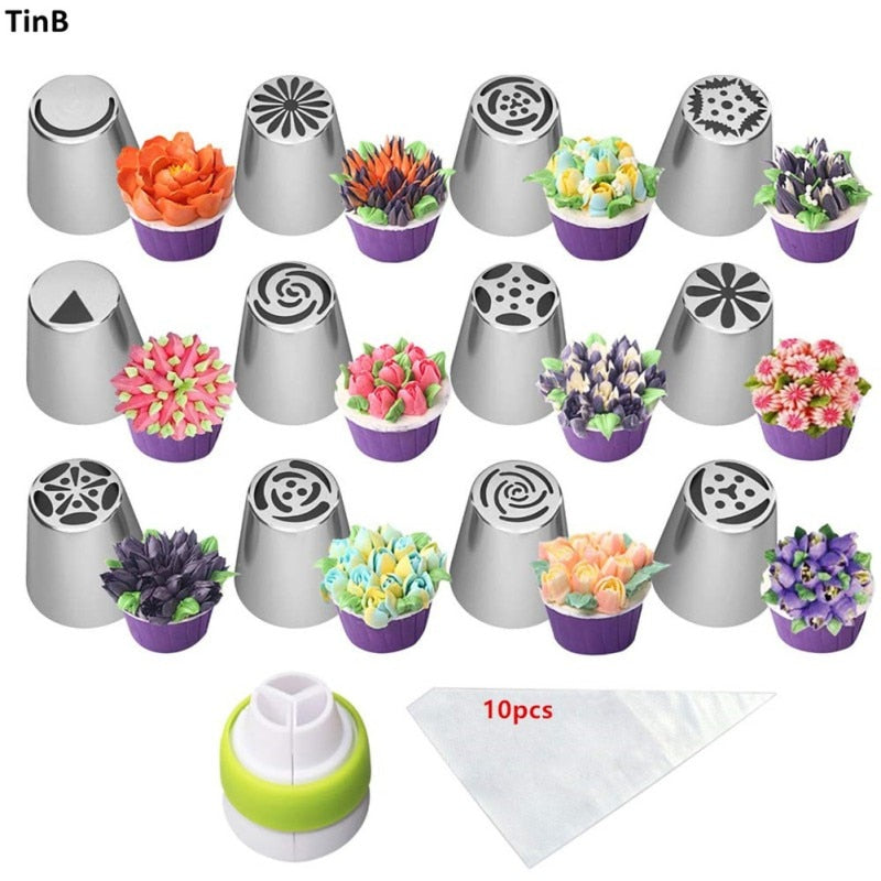 CakeLove - Flower-Shaped Frosting Nozzles 23pcs