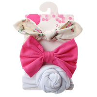 3 Pcs Floral Toddler Headband