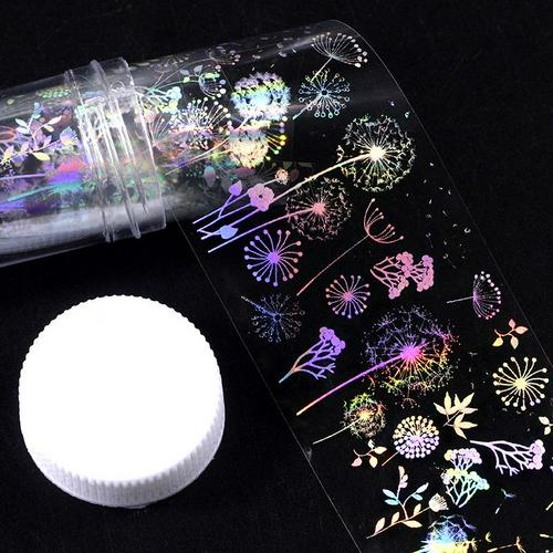 4x100cm/Roll Holographic Nail Art Foil Sticker