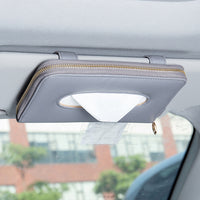 Luxury Leather Car Tissue Holder