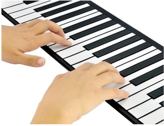 61 Keys Portable Electronic Roll Up Piano