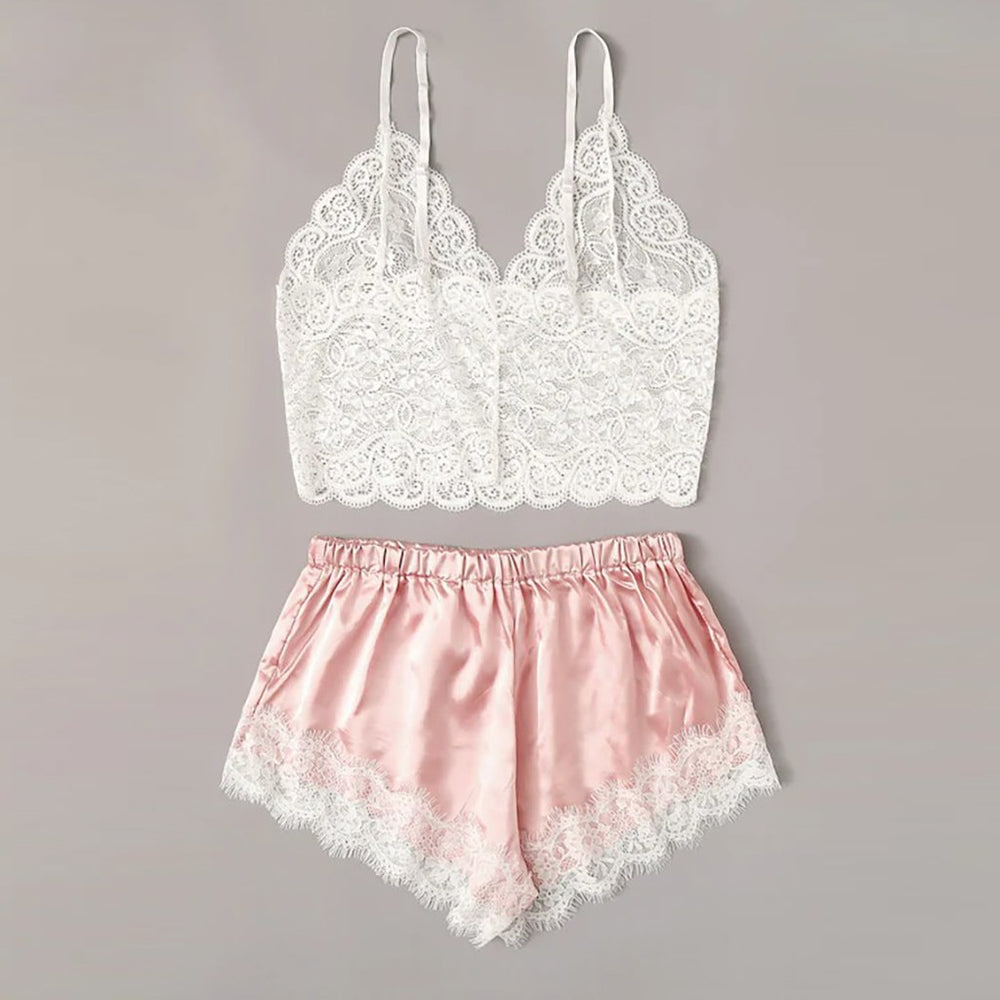 Satin Lace Sleepwear