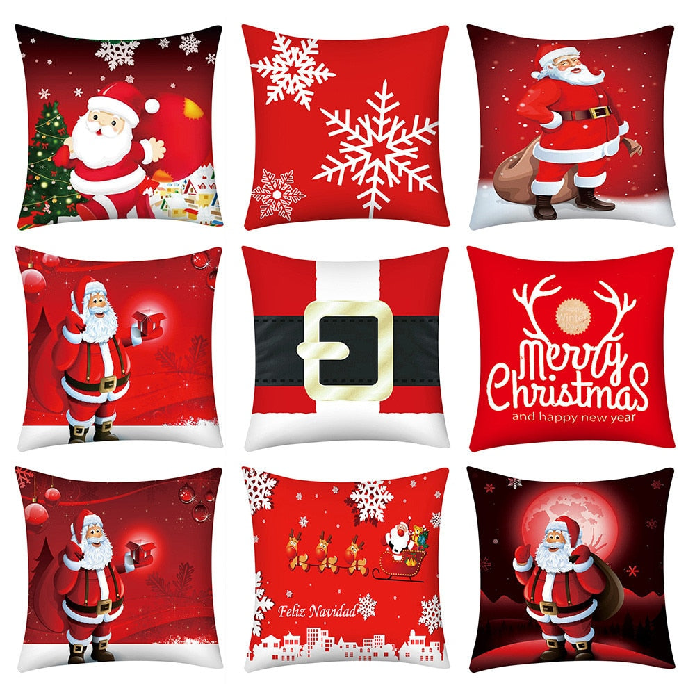 2020 Christmas Santa Claus Pillow Case Print Cushion