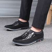 Leather Men Slip on Shoes