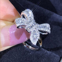 Swiss Crystal Bow Ring