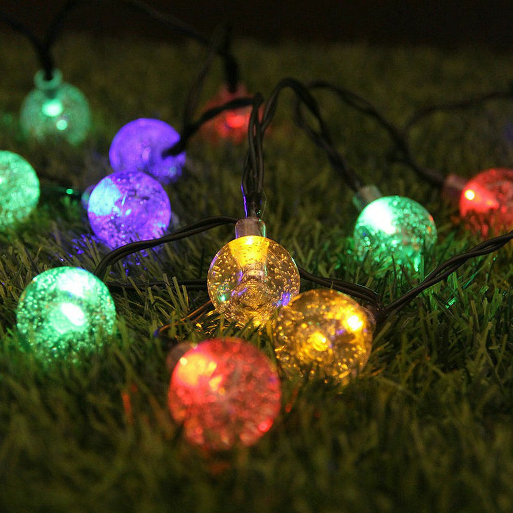 Solar Led String 50 Lights Christmas Garden Outdoor Decoration